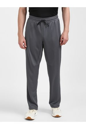 Reebok Men Grey Solid Slim Fit Track Pants