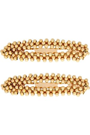 Accessorize Women Set of 2 Gold-Toned Beaded Hair Accessory Set