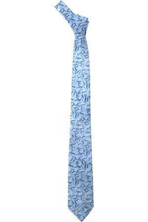 Blacksmith Men Blue Printed Skinny Tie