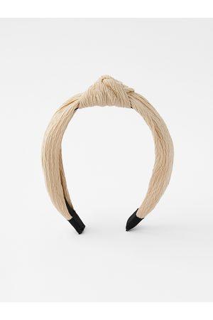 Accessorize Women Cream Solid Hairband
