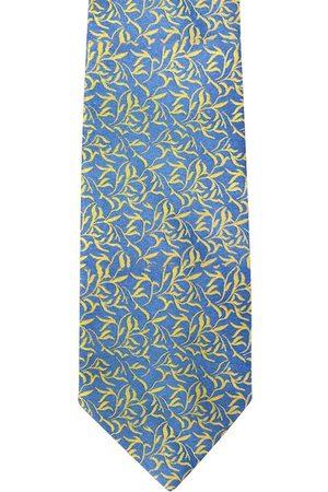 Blacksmith Men Blue & Yellow Printed Broad Tie