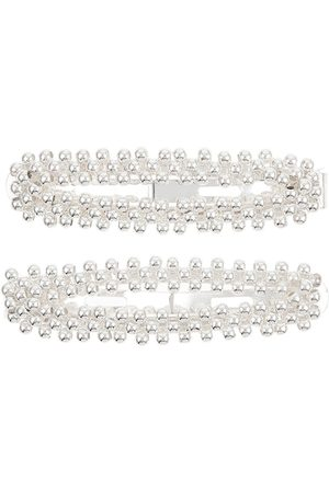 Accessorize Women Silver-Toned Set of 2 Embellished Hair Accessory Set
