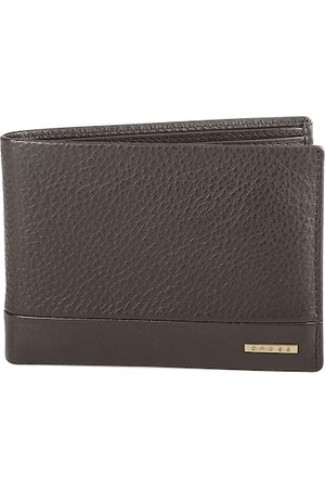 Cross Men Brown Textured Leather Two Fold Wallet