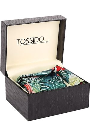 Tossido Men Green & Red Printed Accessory Gift Set