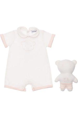 Emporio Armani Cotton Jersey Romper & Toy