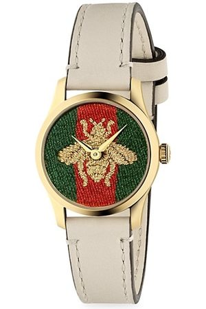 Gucci Women Watches - Female G-Timeless Bee Leather-Strap Watch