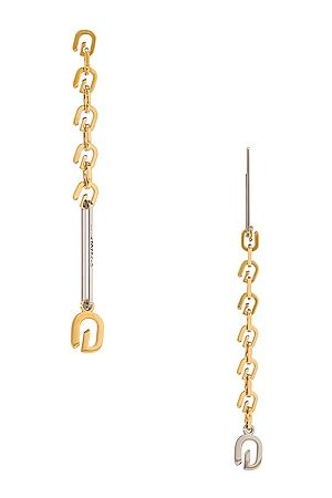 Givenchy G Link Mixed Earrings in Golden & Silvery
