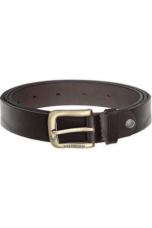 WildHorn Men Belts - Men Coffee Brown Solid Leather Belt