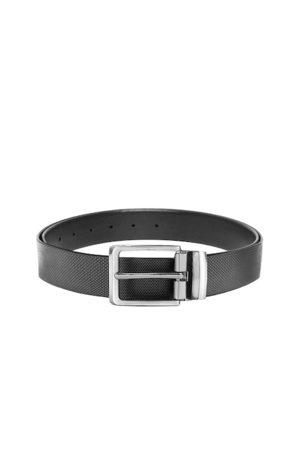 WildHorn Men Belts - Men Black Solid Leather Belt