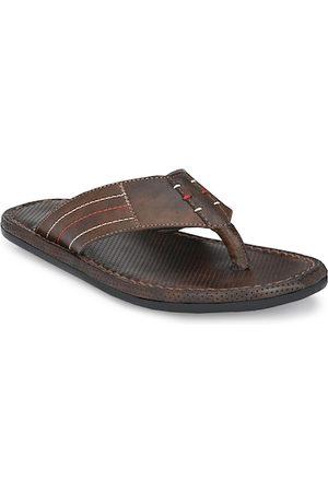 Azzaro Men Brown Flip Flops
