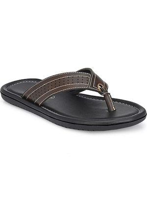 Azzaro Men Brown Thong Flip-Flops
