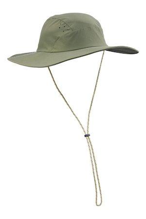 FORCLAZ By Decathlon Men Khaki-Coloured Solid Anti-UV Mountain Trekking Hat