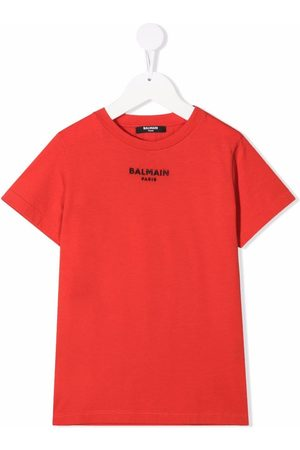 Balmain Girls Short Sleeve - Embroidered-logo T-shirt