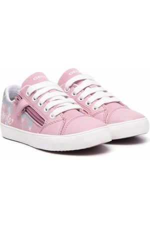 Geox Zipped lace-up trainers
