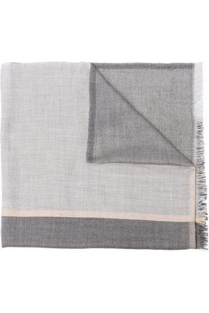 Brunello Cucinelli Frayed-edge rectangle-shape scarf