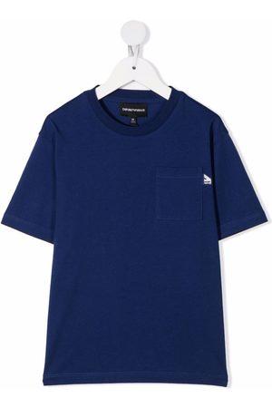 Emporio Armani Boys Short Sleeve - Chest-pocket cotton T-shirt