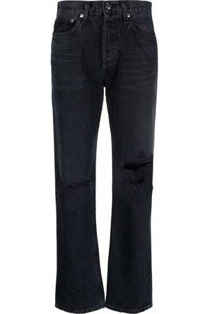 AGOLDE Women Boyfriend - Ripped-detail denim jeans