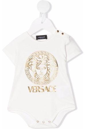 VERSACE Logo-print bodysuit