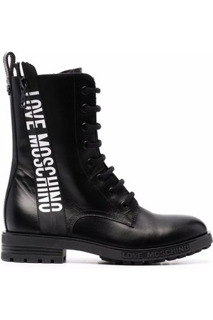 Love Moschino Logo-tape ankle boots