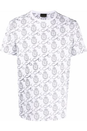 BILLIONAIRE Snake-print logo T-shirt