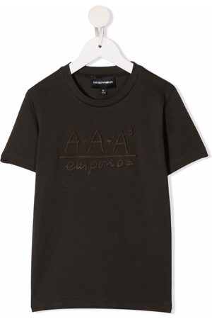 Emporio Armani Embroidered jersey T-shirt