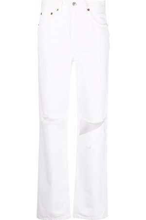 RE/DONE Pipe high-waist straight jeans