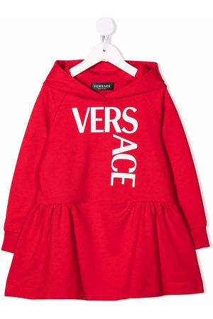 VERSACE Girls Casual Dresses - Logo hooded sweatshirt dress