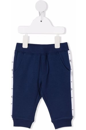 Emporio Armani Baby Leggings - Side stripe-detail track pants