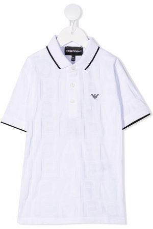 Emporio Armani Boys Polo Shirts - Logo-patch short-sleeved polo shirt