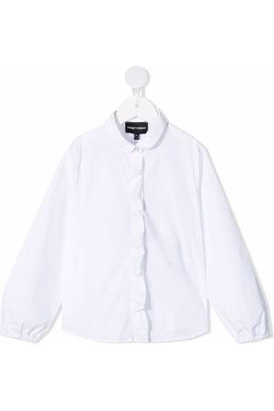 Emporio Armani Round-collar button-up shirt