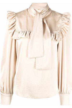 See by Chloé Pussy-bow ruffled blouse