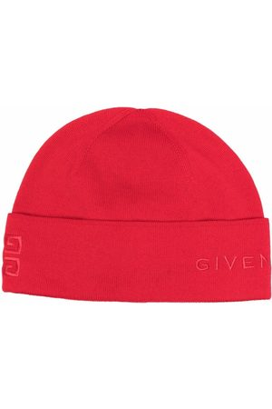 Givenchy Women Beanies - Logo-embroidered beanie