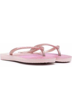 Havaianas Slippers - Panelled flat flip flops