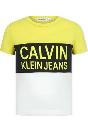 Calvin Klein Colour-block cotton T-shirt