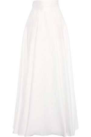 Max Mara Pleated Jacquard Long Skirt