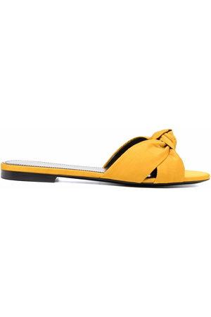 Saint Laurent Bianca knot detail sandals
