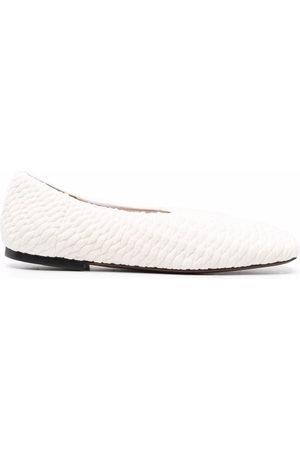 Neous Textured ballerina shoes