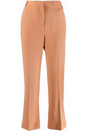 VERSACE Women Trousers - Mid-rise cropped trousers