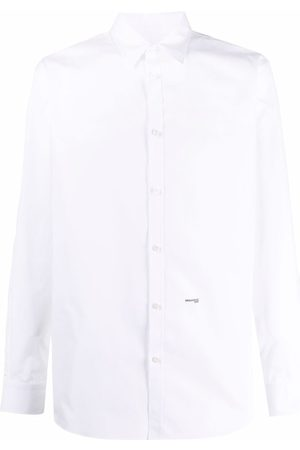 Dsquared2 Men Long Sleeve - Embroidered-logo detail shirt