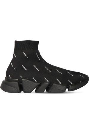 Balenciaga Men Sneakers - Speed 2.0 Low-top Knit Sneakers