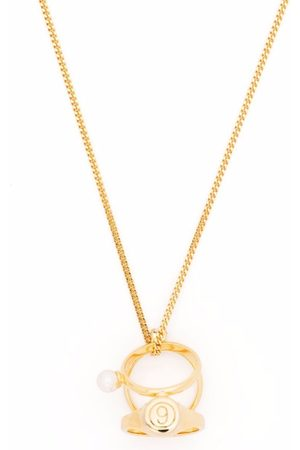 MM6 MAISON MARGIELA Numbers rings necklace