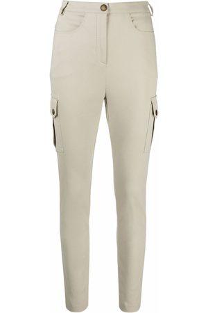 Patrizia Pepe Cargo-pocket slim-fit trousers