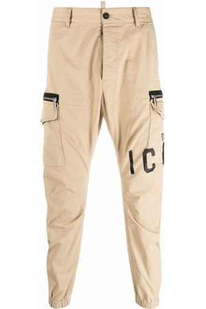 Dsquared2 Men Trousers - Icon-print tapered trousers