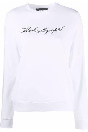 Karl Lagerfeld Signature logo print sweatshirt