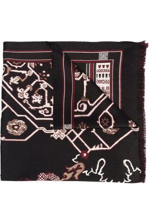 Etro Geometric-print fringed-edge scarf