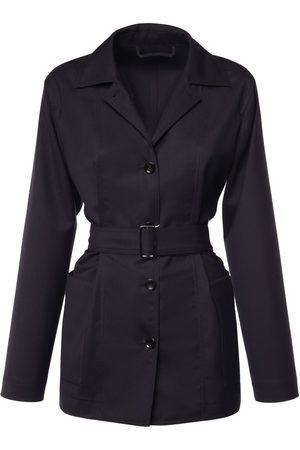 Max Mara Women Jackets - Pireo Belted Pure Wool Jacket