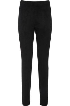 Max Mara Women Stretch Trousers - High Waist Stretch Pants