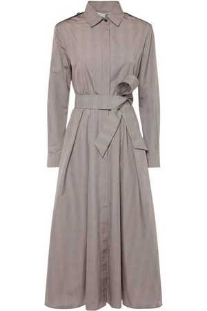 Max Mara Fido Belted Prince Of Wales Cotton Dress