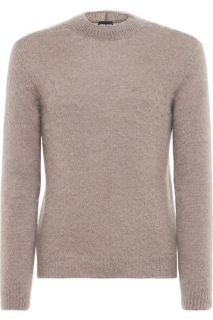 Armani Men Jumpers - Mohair Blend Knit Sweater