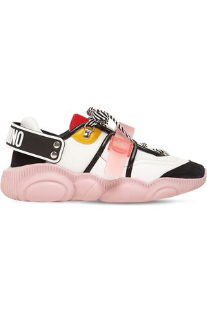 Moschino 30mm Mesh & Leather Sneakers